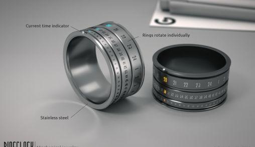 Mechanische Ring met klok