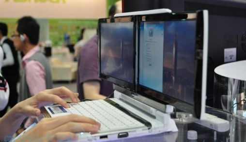 Netbook met Dubbelscherm van Onkyo