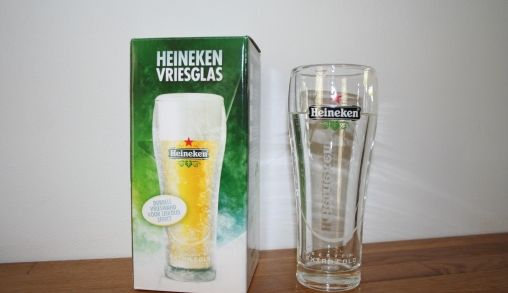 Nieuw vriesglas van Heineken