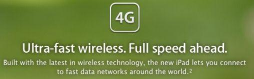 Nieuwe iPad werkt op 4G netwerk
