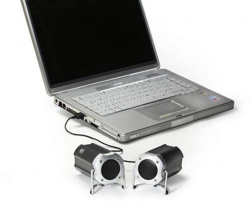 orig_Altec Lansing Orbit USB Stereo with laptop