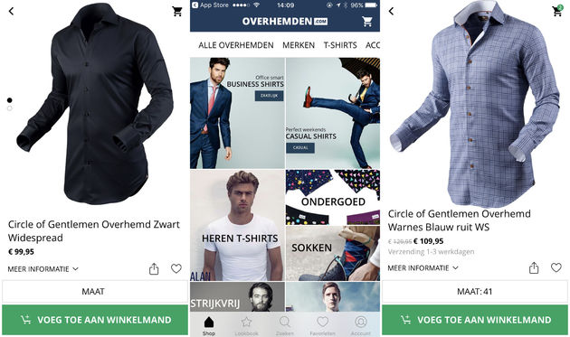 overhemden-app-screen