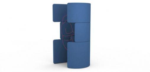 Phone booth foto blauw
