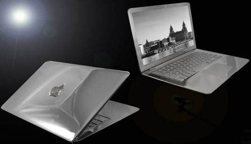 Platina MacBook Air met Diamanten