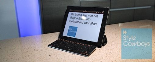 Review Rapoo Ultraplat Bluetooth-toetsenbord voor iPad