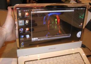 Samsung Concept Laptop met Transparant OLED scherm