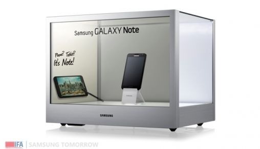 Samsung introduceert transparant display