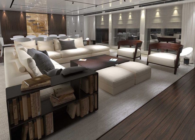 Seating-area-in-the-yacht