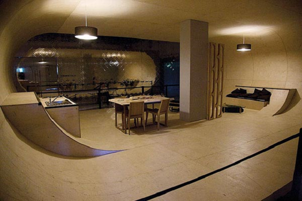 skatebaan in je kelder