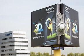 Sony plaatst reusachtige 3D-buitenreclame naast A4