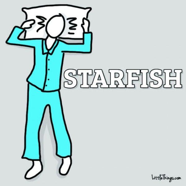 starfish-slaap-houding