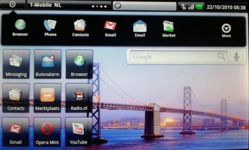 Streak hoofdmenu met apps 1