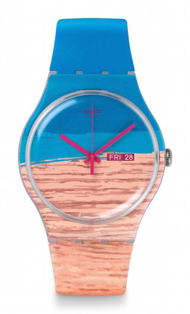 Swatch blue pine