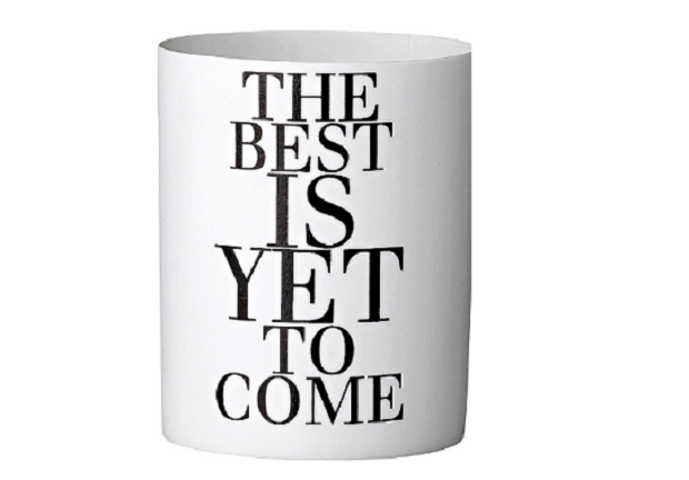 The Best is Yet to come waxinelicht houder