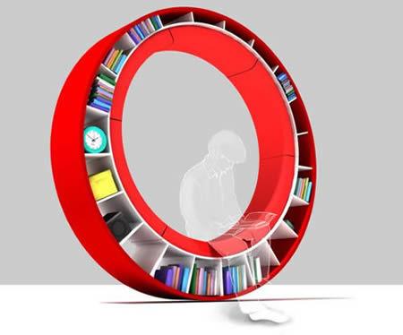 The-Circular-Bookshelf-By-Zhdanova-Irina