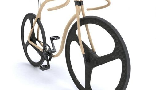 Thonet houten design fiets by Andy Martin