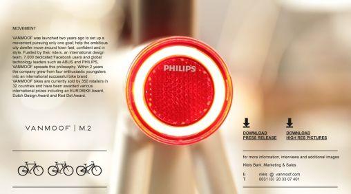 Vanmoof verlicht fiets met LED-verlichting van Philips