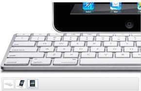 Verschil in foto's iPad Keyboard