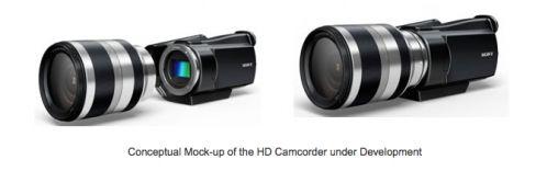 Videocamera met verwisselbare lenzen van Sony