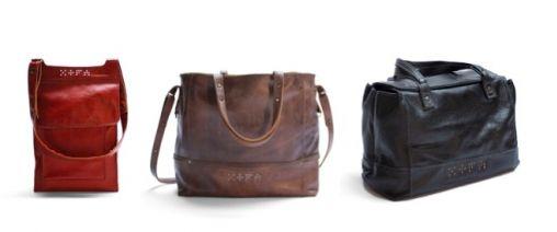 XOFA: Duurzame design tassen van oude leren banken!