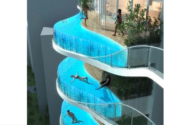 zwembad op balkon