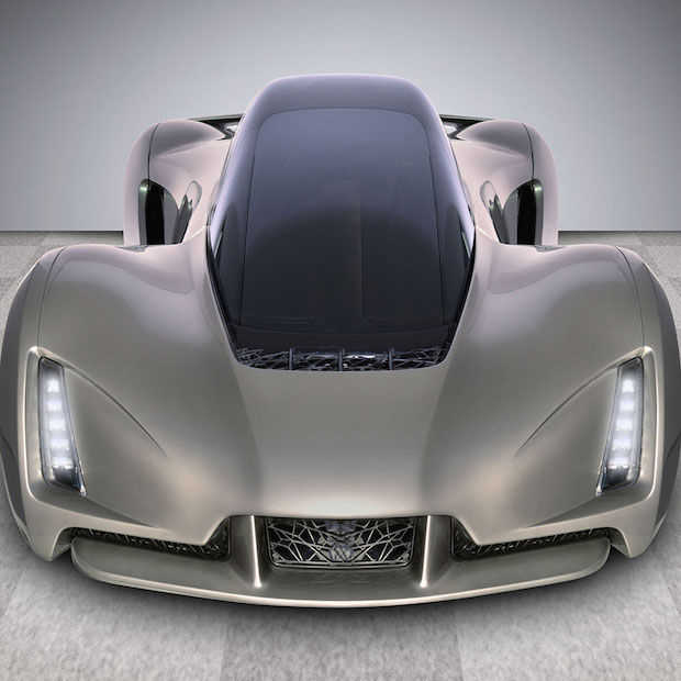 De eerste super snelle 3D-geprinte auto