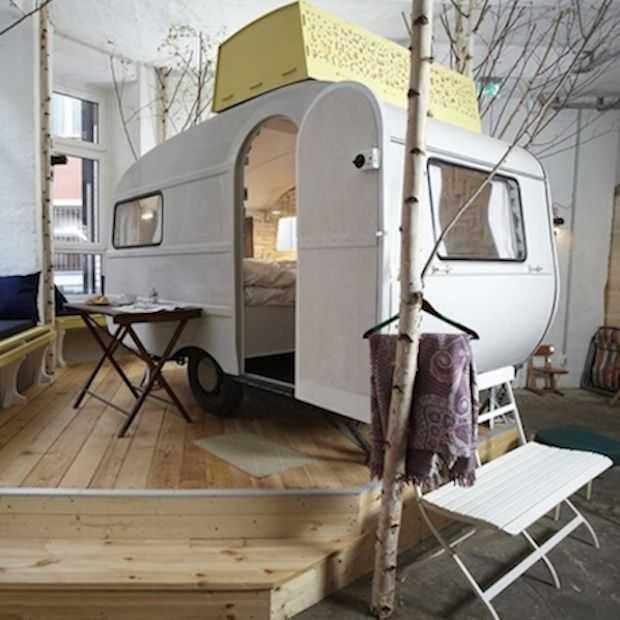 Modern en stijlvol ingerichte binnen camping