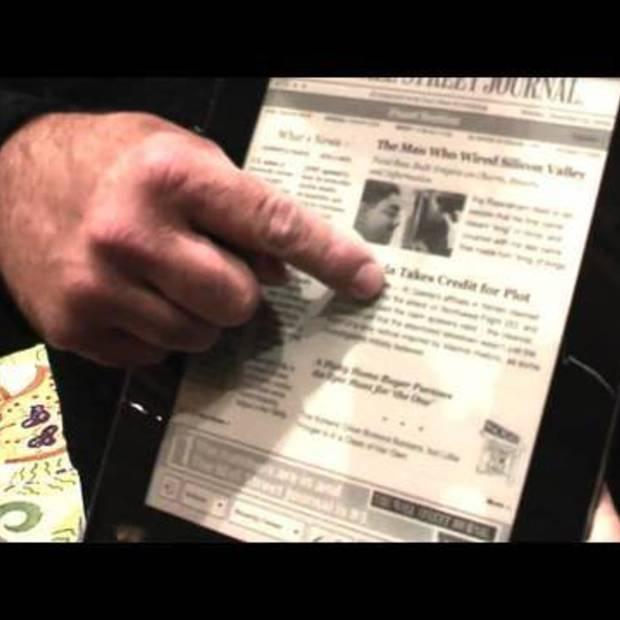 Ultrathin Que ProReader eBook has Newspapers