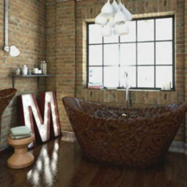 Chocoladeliefhebbers opgelet! Deze badkamer is volledig van chocola!