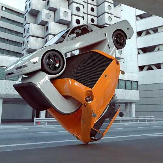 Coole kunst gemaakt van auto's door Chris Labrooy