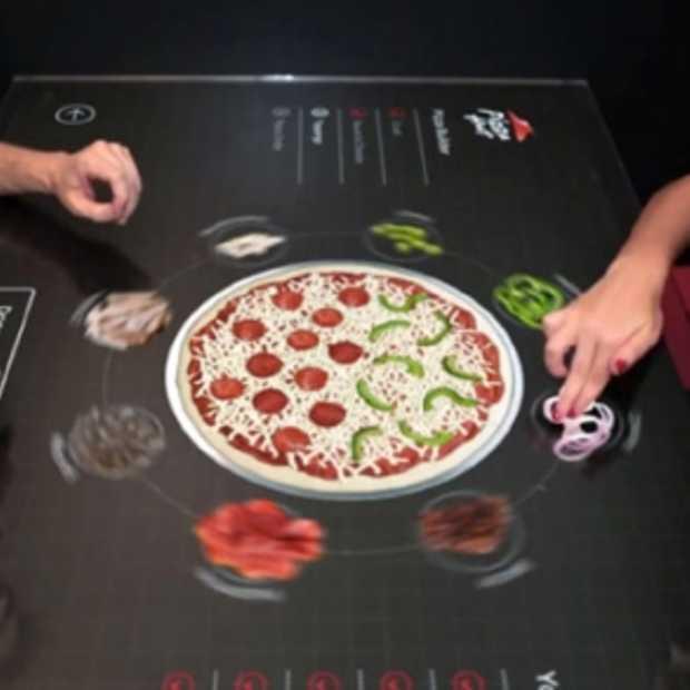 Concept: stel zelf je pizza samen door middel van touchscreen