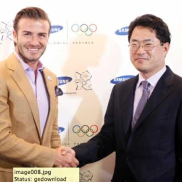 David Beckam Samsung ambassadeur tijdens Olympische Spelen 2012