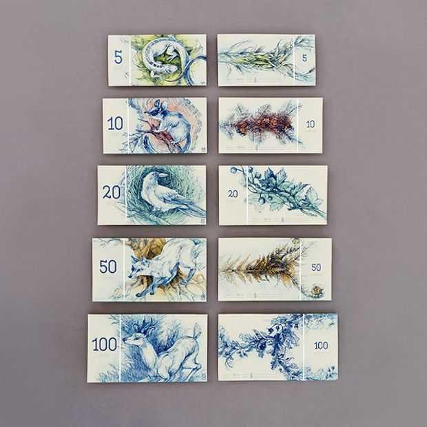 Design student herontwerpt de euro en het resultaat in verbluffend