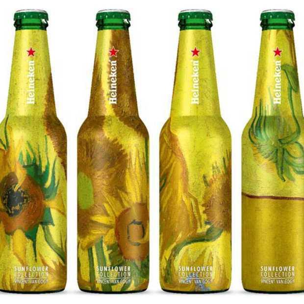 Cool Vincent van Gogh design op Heineken flesjes