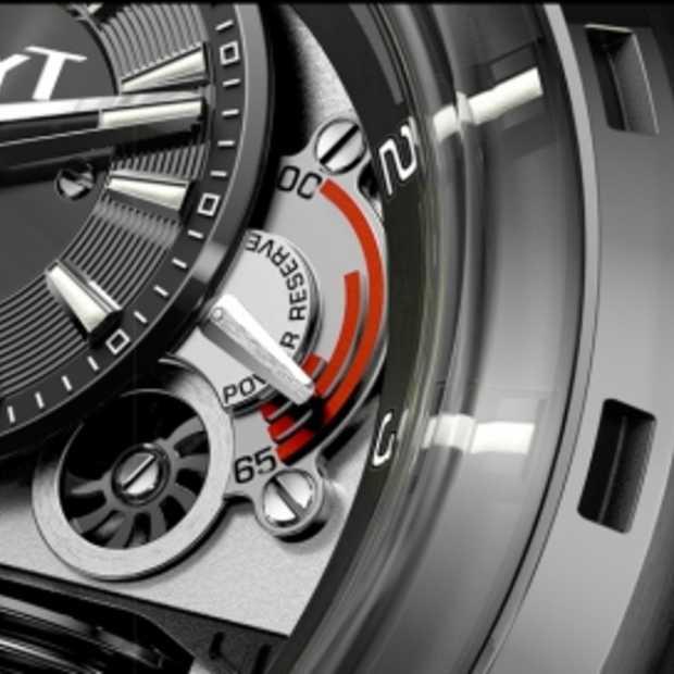 Horloge met een Vloeiend uurwerk