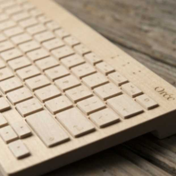 Houten toetsenbord