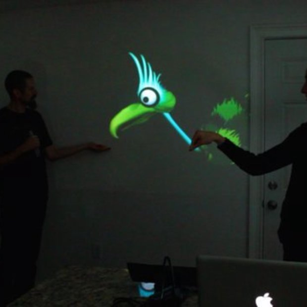 Interactive Puppet Prototype with Xbox Kinect