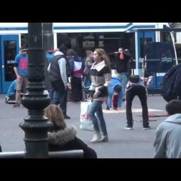 iPhone 5: Super Glued to Ground in Amsterdam (Leidseplein)