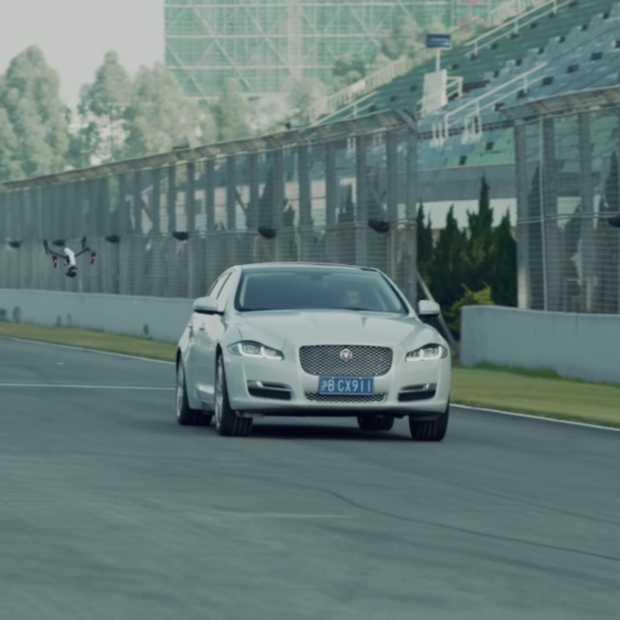 Kat en muis spel in 2016, Jaguar XJ vs Drone