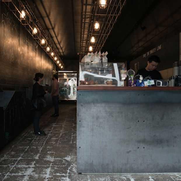 Architect tovert garage om tot koffiecorner