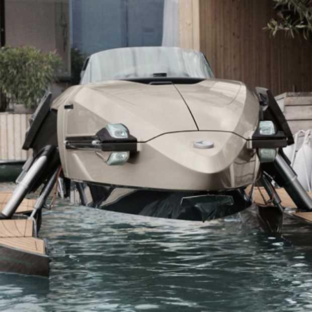 Met de boot Kormaran kun je over het water vliegen