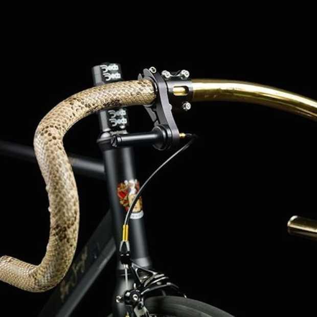 Deze fiets met 24K goud is een echte eyecatcher
