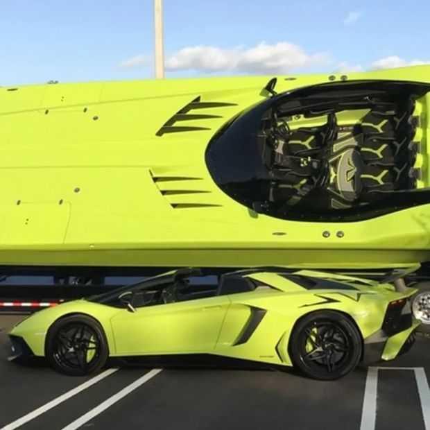 Lamborghini/boot combo te koop, zo goed als nieuw: $2,2 miljoen