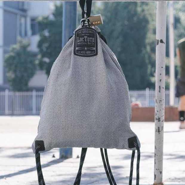 Anti-diefstal rugzak LocTote is watervast en niet kapot te krijgen
