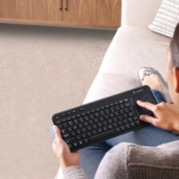 Logitech Toetsenbord met Touchpad voor op de Bank