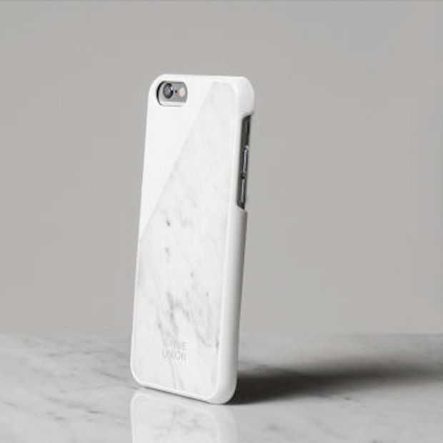 Gaaf! iPhone hoesje van marmer!