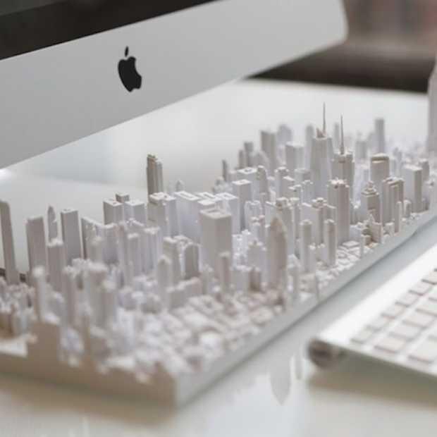 Gaaf: grote steden in 3D-geprinte modellen