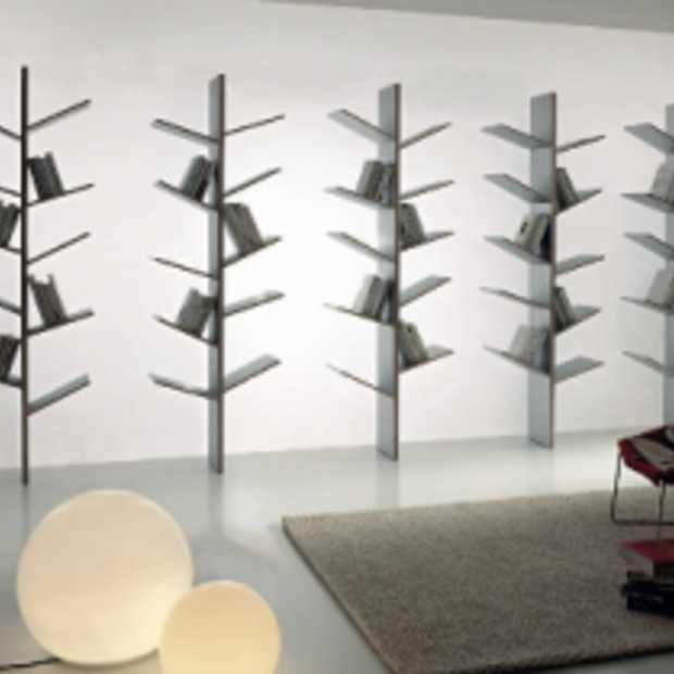 Moderne boekenkast ge nspireerd door de natuur - Moderne boekenkast ...