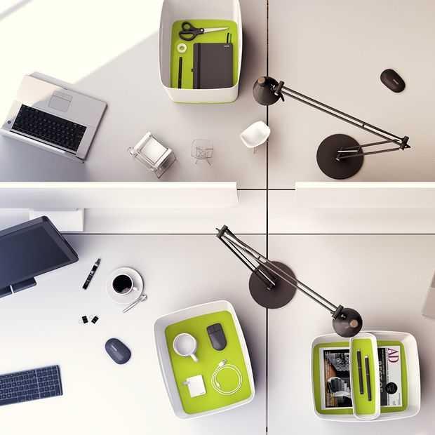 De Leitz MyBox ruimt mooi op in je huiskamer of op kantoor