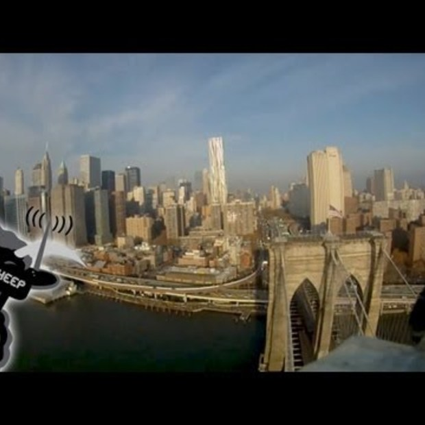 New York City vanuit modelvliegtuigje